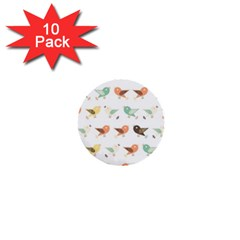 Assorted Birds Pattern 1  Mini Buttons (10 Pack)  by linceazul