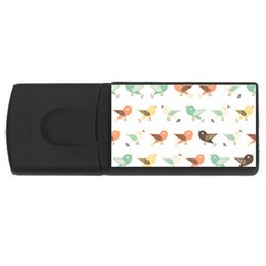 Assorted Birds Pattern Usb Flash Drive Rectangular (4 Gb) by linceazul