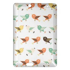 Assorted Birds Pattern Amazon Kindle Fire Hd (2013) Hardshell Case by linceazul