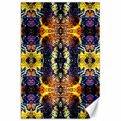 Mystic Yellow Blue Ornament Pattern Canvas 20  X 30   by Costasonlineshop