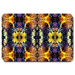Mystic Yellow Blue Ornament Pattern Large Doormat  30 x20 Door Mat - 1