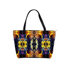 Mystic Yellow Blue Ornament Pattern Shoulder Handbags by Costasonlineshop