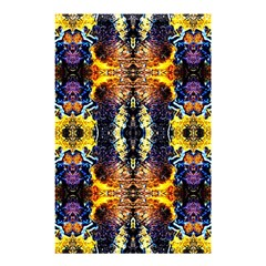 Mystic Yellow Blue Ornament Pattern Shower Curtain 48  X 72  (small)  by Costasonlineshop