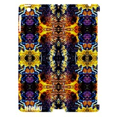 Mystic Yellow Blue Ornament Pattern Apple Ipad 3/4 Hardshell Case (compatible With Smart Cover)