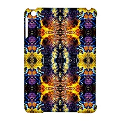 Mystic Yellow Blue Ornament Pattern Apple Ipad Mini Hardshell Case (compatible With Smart Cover) by Costasonlineshop