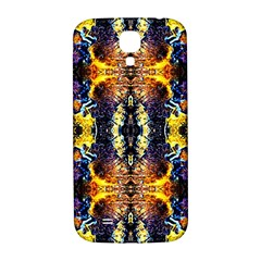 Mystic Yellow Blue Ornament Pattern Samsung Galaxy S4 I9500/i9505  Hardshell Back Case by Costasonlineshop