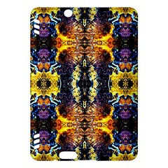Mystic Yellow Blue Ornament Pattern Kindle Fire Hdx Hardshell Case by Costasonlineshop