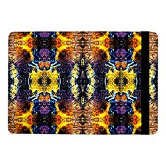Mystic Yellow Blue Ornament Pattern Samsung Galaxy Tab Pro 10 1  Flip Case by Costasonlineshop