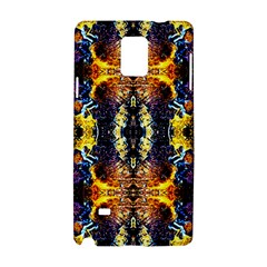 Mystic Yellow Blue Ornament Pattern Samsung Galaxy Note 4 Hardshell Case