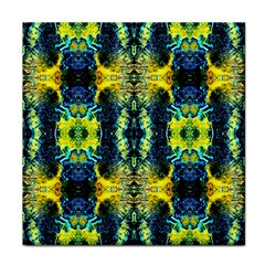 Mystic Yellow Green Ornament Pattern Tile Coasters
