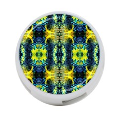 Mystic Yellow Green Ornament Pattern 4 Port Usb Hub (two Sides)  by Costasonlineshop