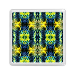 Mystic Yellow Green Ornament Pattern Memory Card Reader (square)  by Costasonlineshop