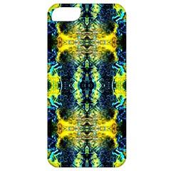 Mystic Yellow Green Ornament Pattern Apple Iphone 5 Classic Hardshell Case by Costasonlineshop