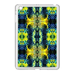 Mystic Yellow Green Ornament Pattern Apple Ipad Mini Case (white) by Costasonlineshop