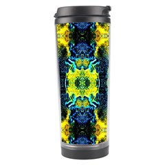 Mystic Yellow Green Ornament Pattern Travel Tumbler by Costasonlineshop