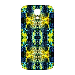 Mystic Yellow Green Ornament Pattern Samsung Galaxy S4 I9500/i9505  Hardshell Back Case