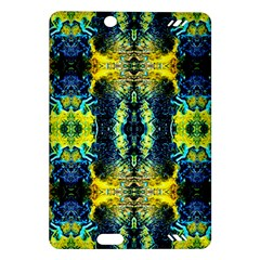 Mystic Yellow Green Ornament Pattern Amazon Kindle Fire Hd (2013) Hardshell Case by Costasonlineshop
