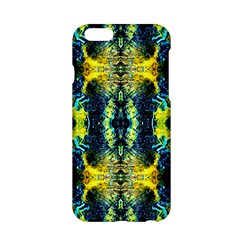 Mystic Yellow Green Ornament Pattern Apple Iphone 6/6s Hardshell Case by Costasonlineshop