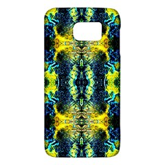 Mystic Yellow Green Ornament Pattern Galaxy S6