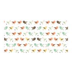 Assorted Birds Pattern Satin Wrap by linceazul