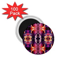Mystic Red Blue Ornament Pattern 1 75  Magnets (100 Pack)