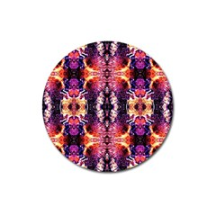 Mystic Red Blue Ornament Pattern Magnet 3  (round) by Costasonlineshop