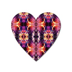 Mystic Red Blue Ornament Pattern Heart Magnet