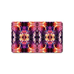 Mystic Red Blue Ornament Pattern Magnet (name Card)