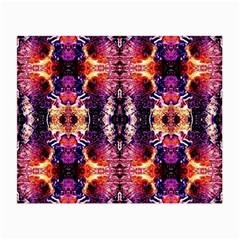 Mystic Red Blue Ornament Pattern Small Glasses Cloth (2 Side)