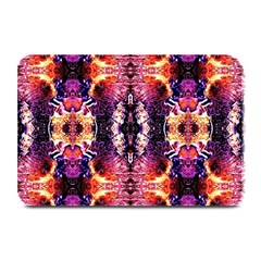Mystic Red Blue Ornament Pattern Plate Mats by Costasonlineshop