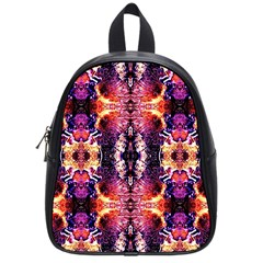 Mystic Red Blue Ornament Pattern School Bags (small)