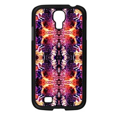 Mystic Red Blue Ornament Pattern Samsung Galaxy S4 I9500/ I9505 Case (black) by Costasonlineshop