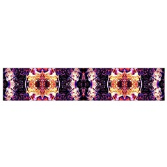 Mystic Red Blue Ornament Pattern Flano Scarf (small)