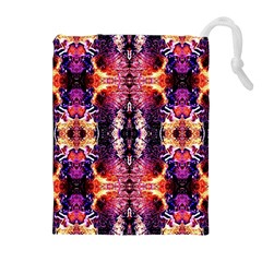 Mystic Red Blue Ornament Pattern Drawstring Pouches (extra Large) by Costasonlineshop