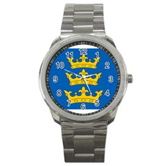 Banner Of Lordship Of Ireland (1177 1542) Sport Metal Watch by abbeyz71
