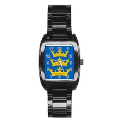 Banner Of Lordship Of Ireland (1177 1542) Stainless Steel Barrel Watch by abbeyz71