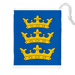 Banner Of Lordship Of Ireland (1177 1542) Drawstring Pouches (xxl) by abbeyz71