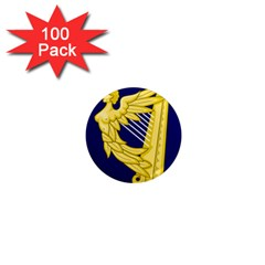Royal Standard Of Ireland (1542 1801) 1  Mini Magnets (100 Pack)  by abbeyz71