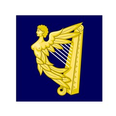 Royal Standard Of Ireland (1542 1801) Small Satin Scarf (square) by abbeyz71