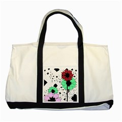 Star Flowers             Two Tone Tote Bag by LalyLauraFLM
