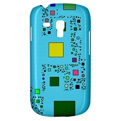 Squares On A Blue Background      Samsung Galaxy Ace Plus S7500 Hardshell Case by LalyLauraFLM