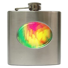 Pastel Shapes Painting            Hip Flask (6 Oz) by LalyLauraFLM