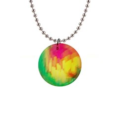 Pastel Shapes Painting            1  Button Necklace by LalyLauraFLM