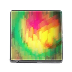 Pastel Shapes Painting            Memory Card Reader (square) by LalyLauraFLM