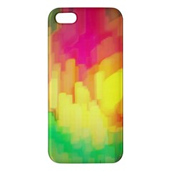 Pastel Shapes Painting      Apple Ipod Touch 5 Hardshell Case With Stand by LalyLauraFLM