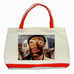 Shitfaced Classic Tote Bag (red) by RakeClag