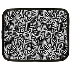 Modern Intricate Optical Netbook Case (large) by dflcprints