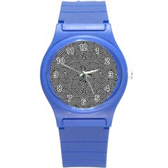 Modern Intricate Optical Round Plastic Sport Watch (s) by dflcprints