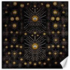 Lace Of Pearls In The Earth Galaxy Pop Art Canvas 12  X 12   by pepitasart