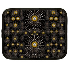 Lace Of Pearls In The Earth Galaxy Pop Art Netbook Case (large) by pepitasart